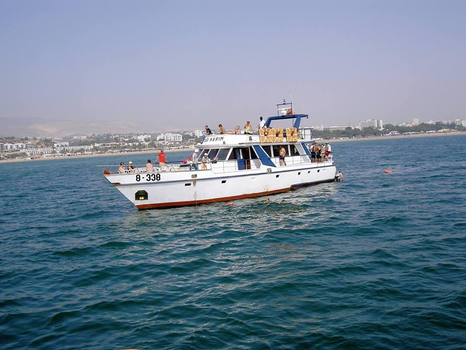 Promenade en mer Agadir, Sortie en Mer Agadir